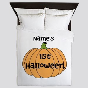 Custom 1st Halloween Queen Duvet