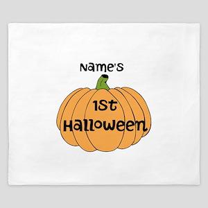Custom 1st Halloween King Duvet