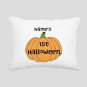 Custom 1st Halloween Rectangular Canvas Pillow