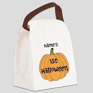 Custom 1st Halloween Canvas Lunch Bag