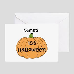 Custom 1st Halloween Greeting Card