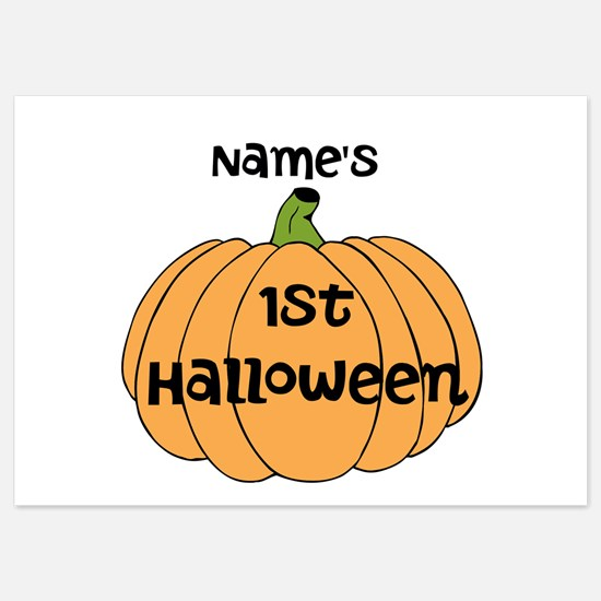 Custom 1st Halloween 5x7 Flat Cards