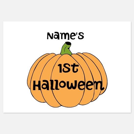 Custom 1st Halloween Invitations