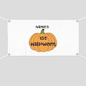Custom 1st Halloween Banner
