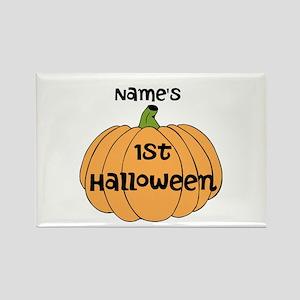 Custom 1st Halloween Rectangle Magnet