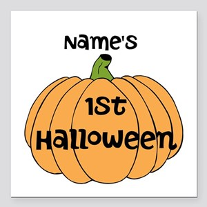 "Custom 1st Halloween Square Car Magnet 3"" x 3"""