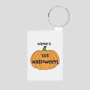 Custom 1st Halloween Aluminum Photo Keychain
