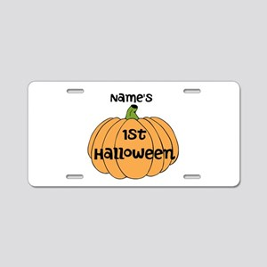 Custom 1st Halloween Aluminum License Plate