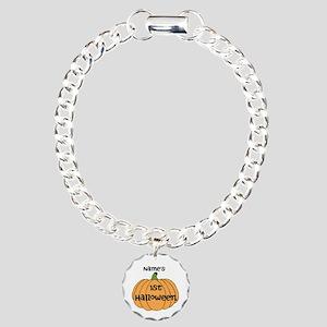 Custom 1st Halloween Charm Bracelet, One Charm