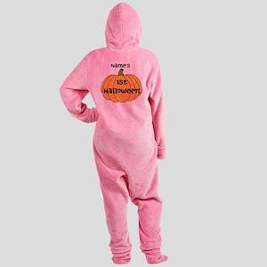 Custom 1st Halloween Footed Pajamas