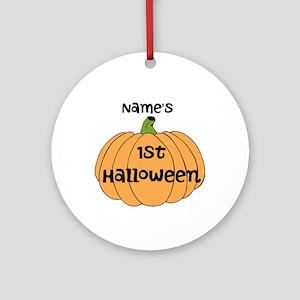 Custom 1st Halloween Ornament (Round)