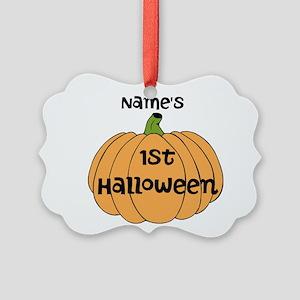 Custom 1st Halloween Picture Ornament