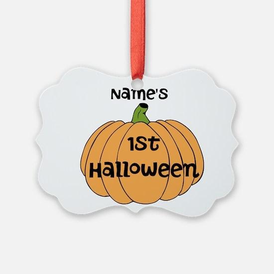 Custom 1st Halloween Ornament
