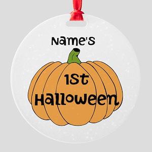 Custom 1st Halloween Round Ornament