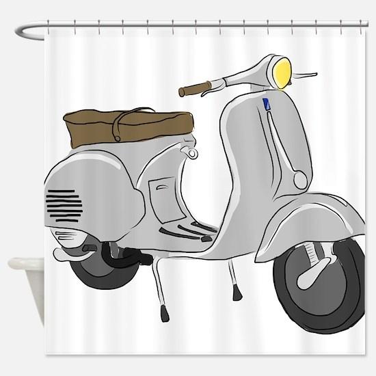 Vespa GS Sketch Shower Curtain