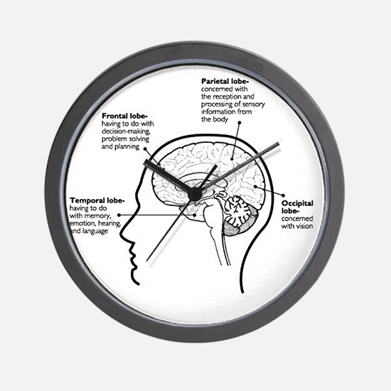 Brain Functions Wall Clock