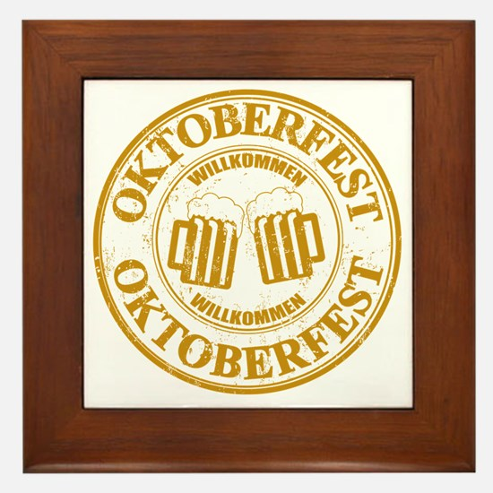 Oktoberfest Seal Framed Tile