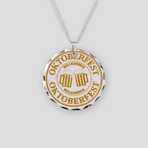 Oktoberfest Seal Necklace Circle Charm