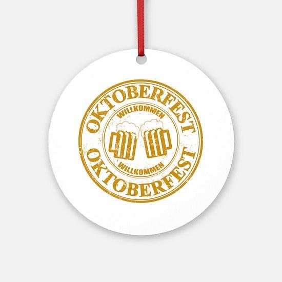 Oktoberfest Seal Round Ornament