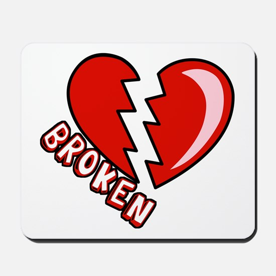 Broken Hearted Anti-Valentine Mousepad