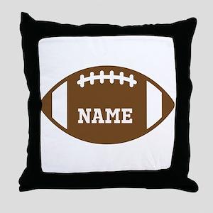 Custom Football Throw Pillow