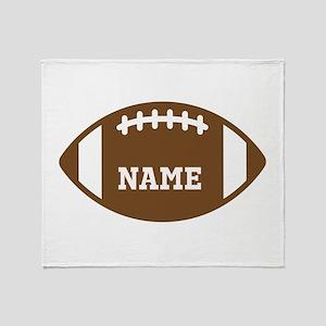 Custom Football Throw Blanket