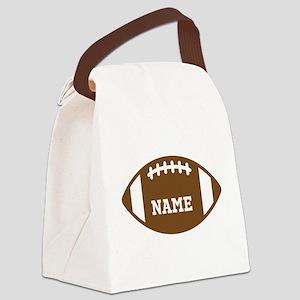 Custom Football Canvas Lunch Bag