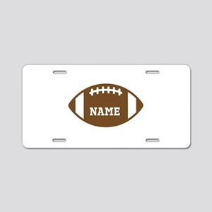 Custom Football Aluminum License Plate