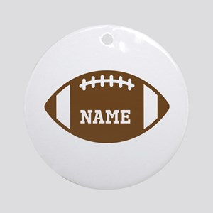 Custom Football Ornament (Round)