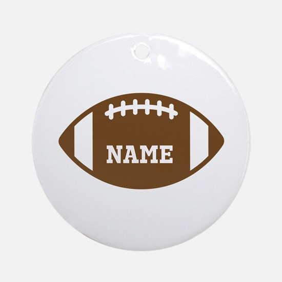 Custom Football Ornament (Round)