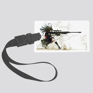 Anime Sniper Girl Large Luggage Tag