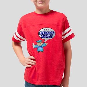 KINDERGARTEN BOY GRADUATE JAM Youth Football Shirt