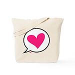 Heart Talk Tote Bag
