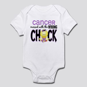 Cancer Messed With Wrong Chick Infant Bodysuit