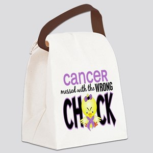 Cancer Messed With Wrong Chick Canvas Lunch Bag