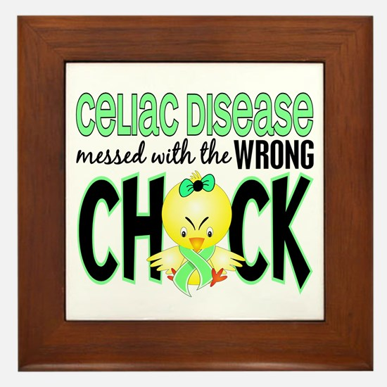 Celiac Disease Messed With Wrong Chick Framed Tile