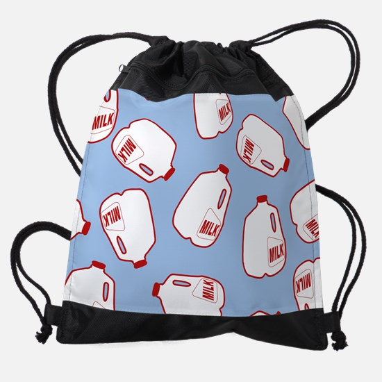 Milk Jugs Pattern Drawstring Bag