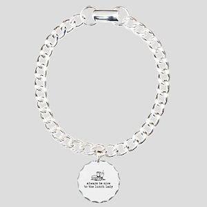 Lunch Lady Charm Bracelet, One Charm