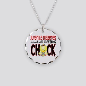 Juvenile Diabetes Messed With Wrong Chick Necklace