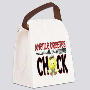 Juvenile Diabetes Messed With Wrong Chick Canvas L