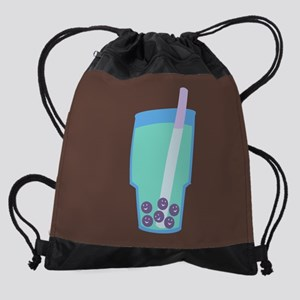 bubble-tea_8x12 Drawstring Bag
