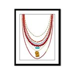 Red Necklaces Framed Panel Print