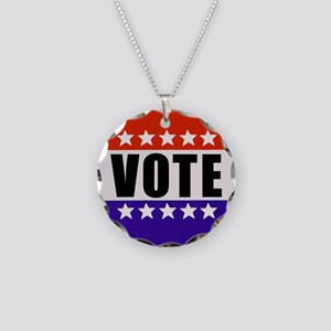 Vote Button Necklace