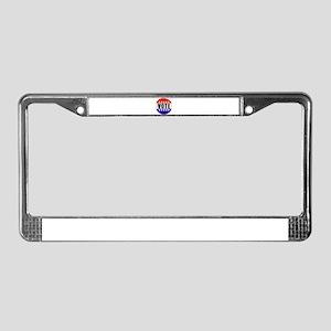 Vote Button License Plate Frame