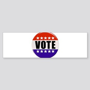 Vote Button Bumper Sticker