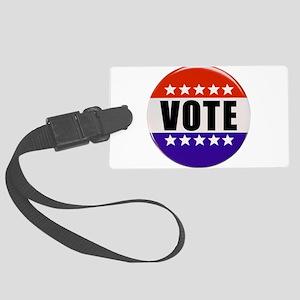 Vote Button Luggage Tag