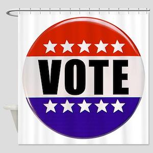 Vote Button Shower Curtain