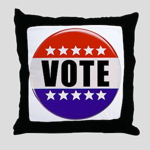 Vote Button Throw Pillow