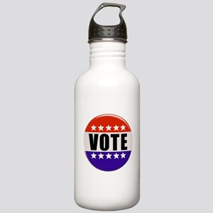 Vote Button Water Bottle