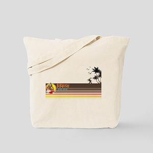 Sasquatch Surf Shop Sunset Tote Bag